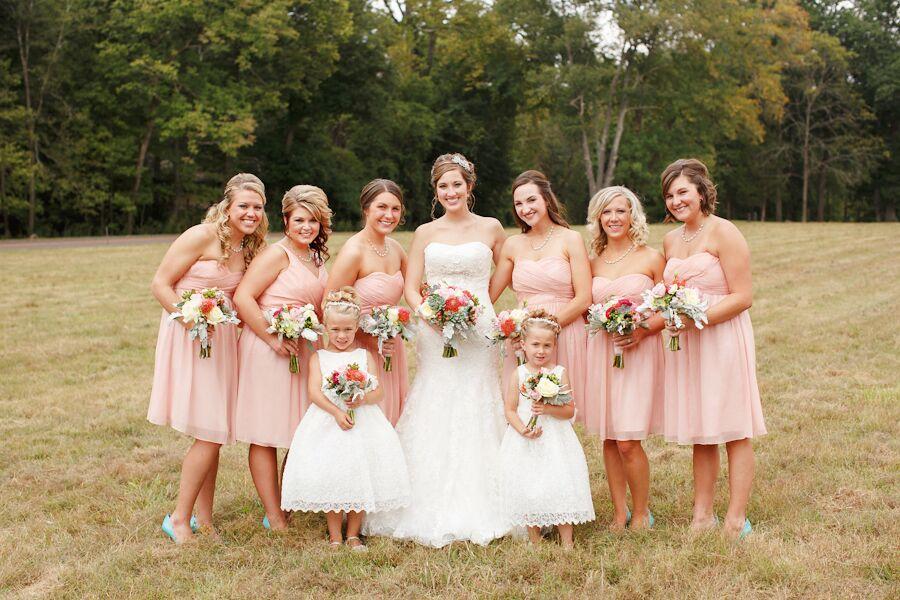 J. Crew Blush Bridesmaid Dresses