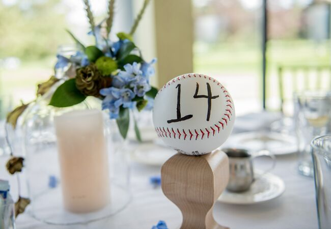 Baseball Table Numbers Laure Lillie Photographie Blog Theknot