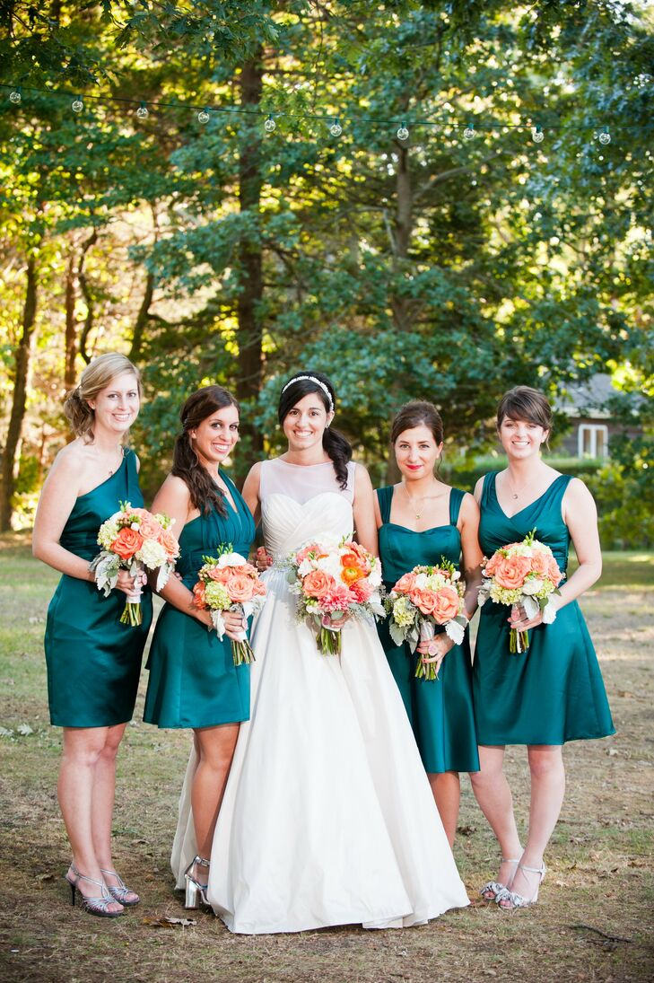 Dark teal bridesmaid dresses for Teal dress for wedding