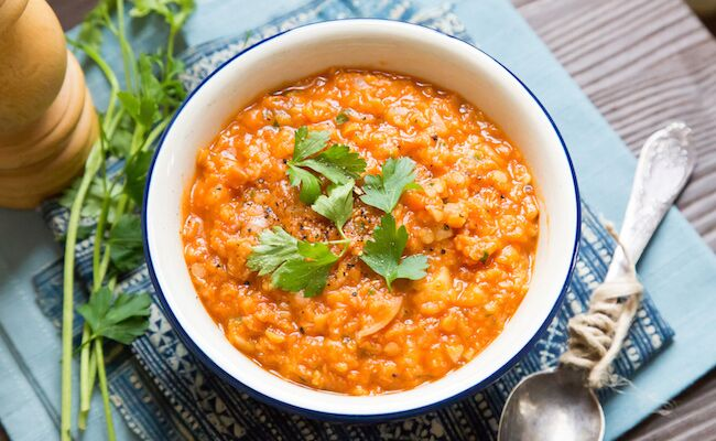 A Warming Red Lentil Soup for Winter