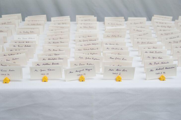 Calligraphy escort cards