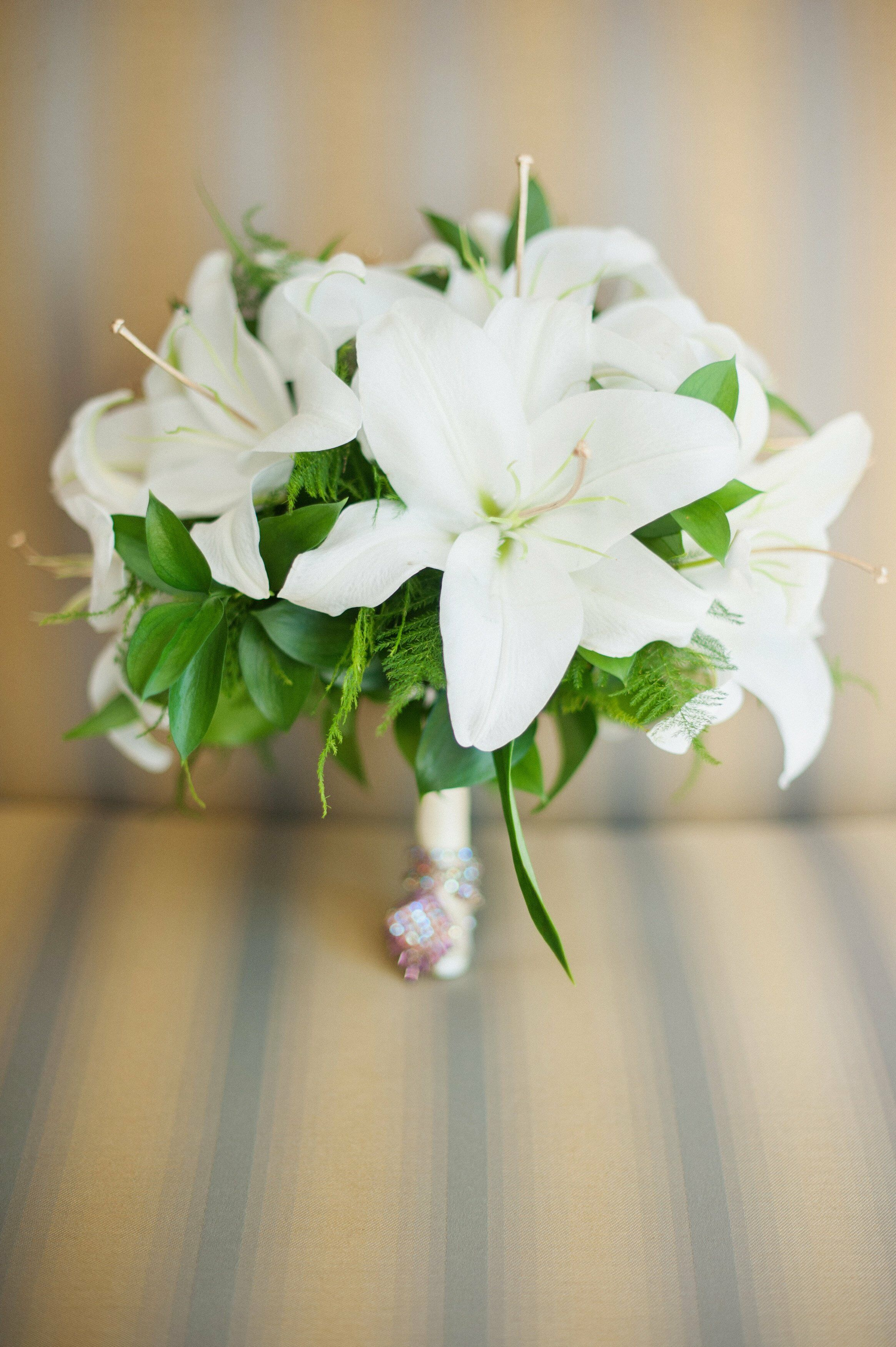 White Calla Lily and Red Rose Bridal Bouquet |Lily Bridal Bouquets
