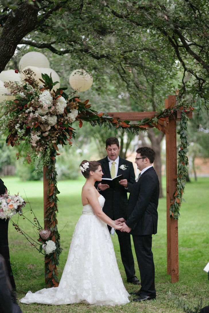 Arbor With Floral Garlands