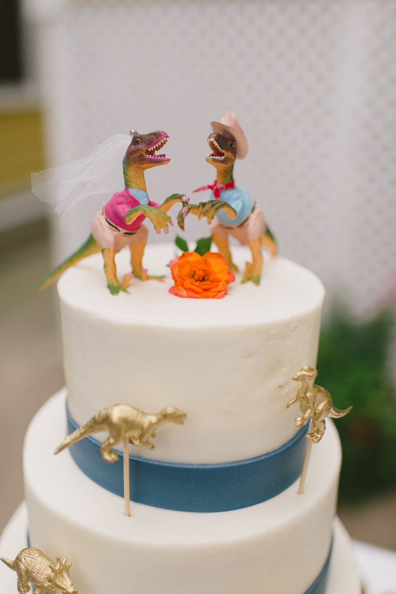 dinosaur wedding cake and groom dinosaur cake topper 13530