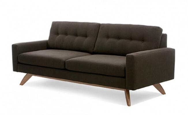 mid century modern sofa mad men don draper set decor - Mad Men Sofa