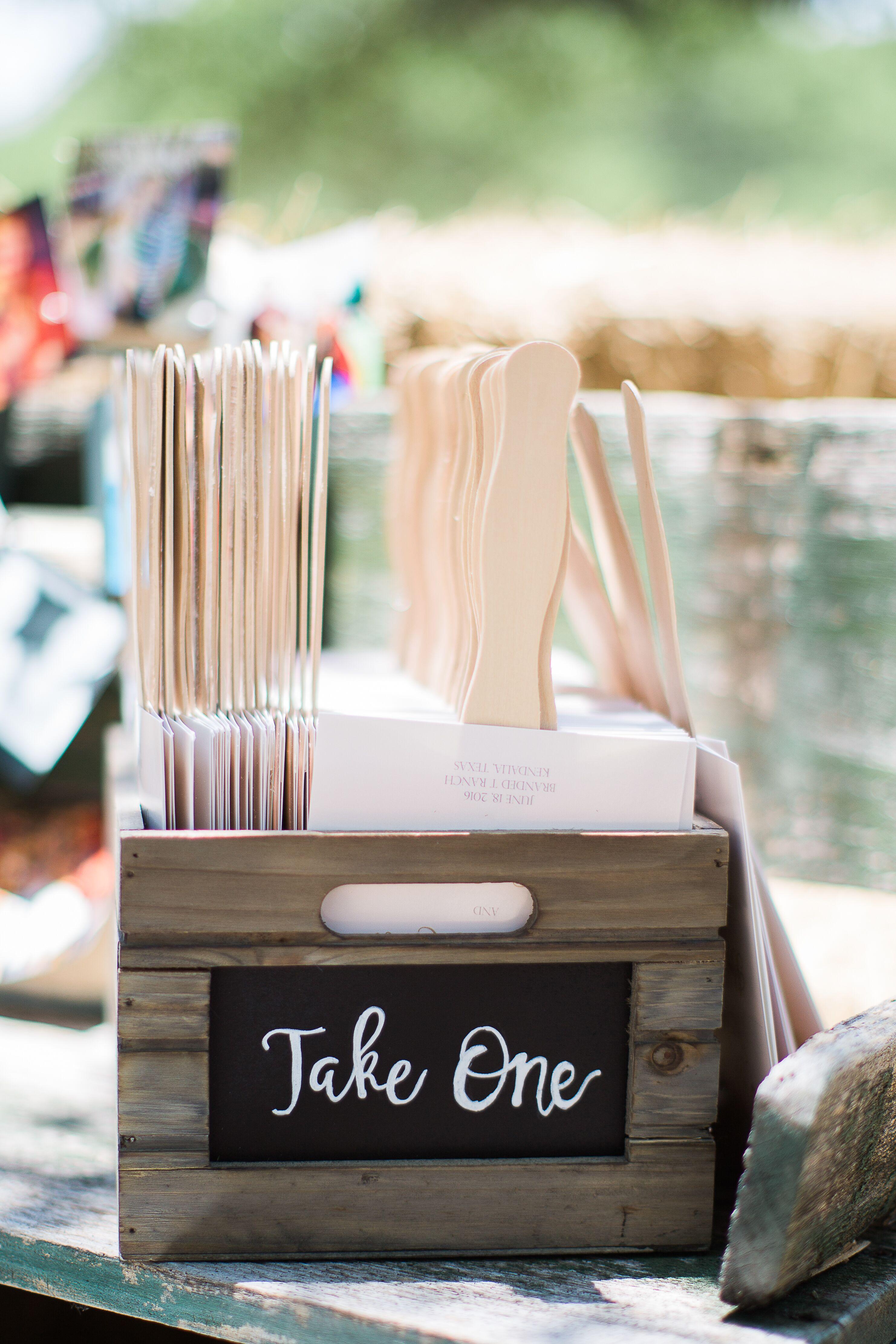 Homemade Fans for Outdoor Wedding
