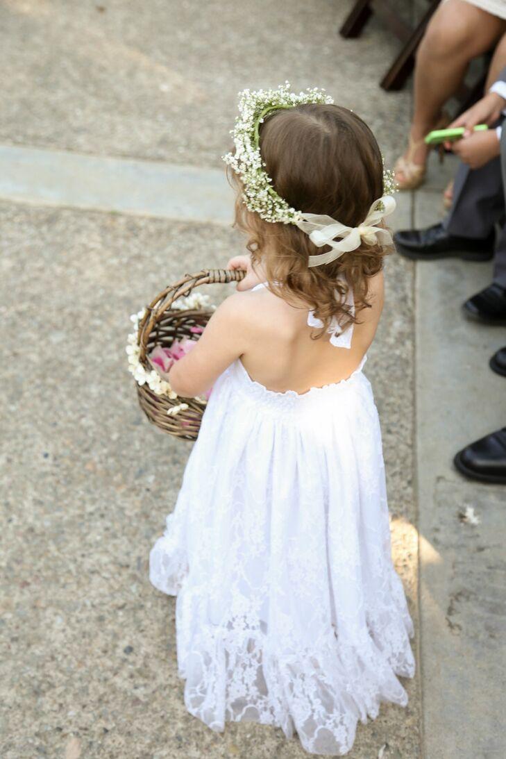 Flower Girl Babys Breath Flower Crown