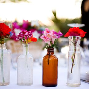 wedding flower vases the centerpieces 9525