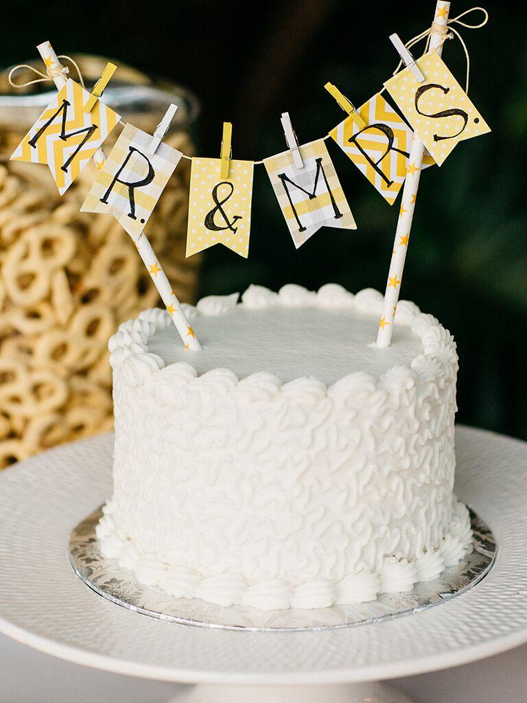 DIY Wedding Cake Topper Idea
