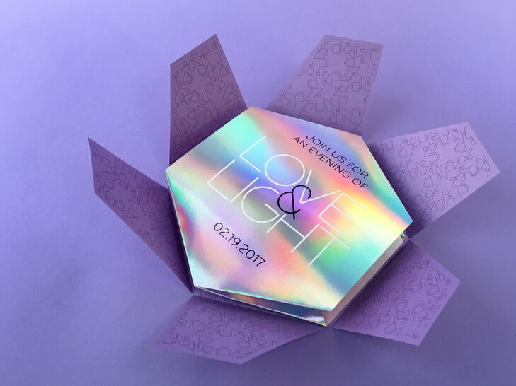 Custom-Designed Iridescent Invitation