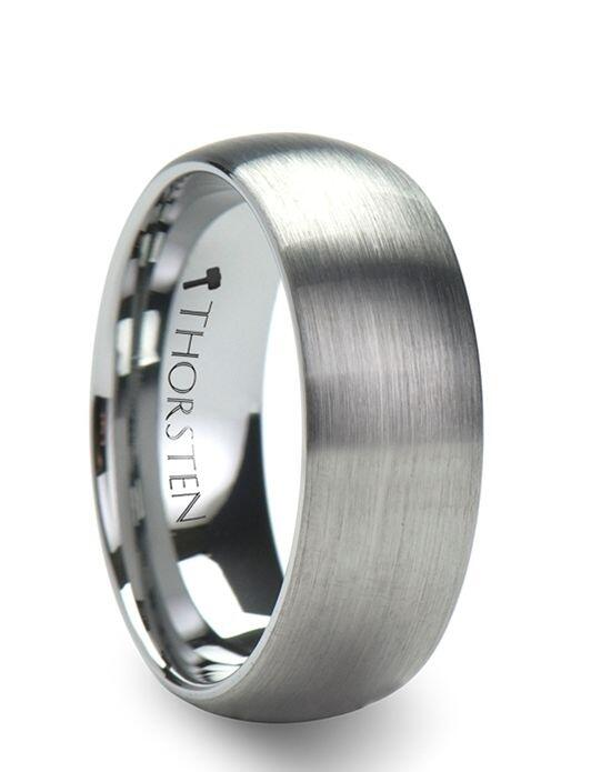 Larson Jewelers PERSEUS Domed with Brushed Finish Tungsten Band - 4 - 8 mm Wedding Ring photo