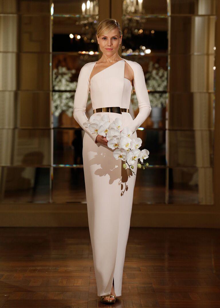 Vegas Style Wedding Dress 33 Elegant Asymmetric neckline Romona Keveza