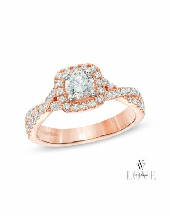 Vera Wang LOVE at Zales Vera Wang LOVE Collection 1 CT. T.W. Diamond Square Frame Engagement Ring in 14K Rose Gold  19970180 Engagement Ring photo