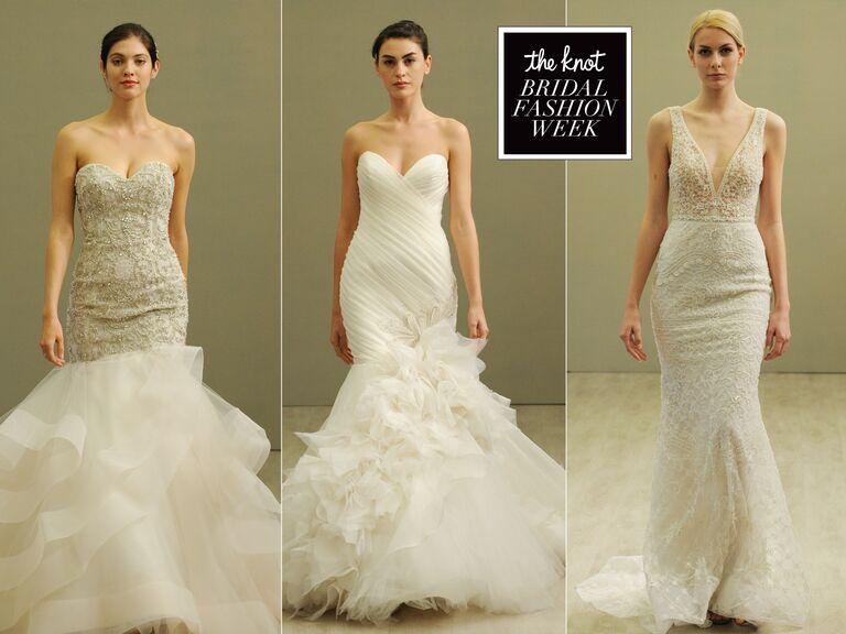 Lazaro S Spring Wedding Dresses Put A Sexy Spin On Romantic Style