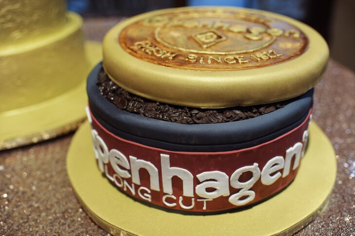 A Custom-Make Chewing Tobacco Groom\'s Cake