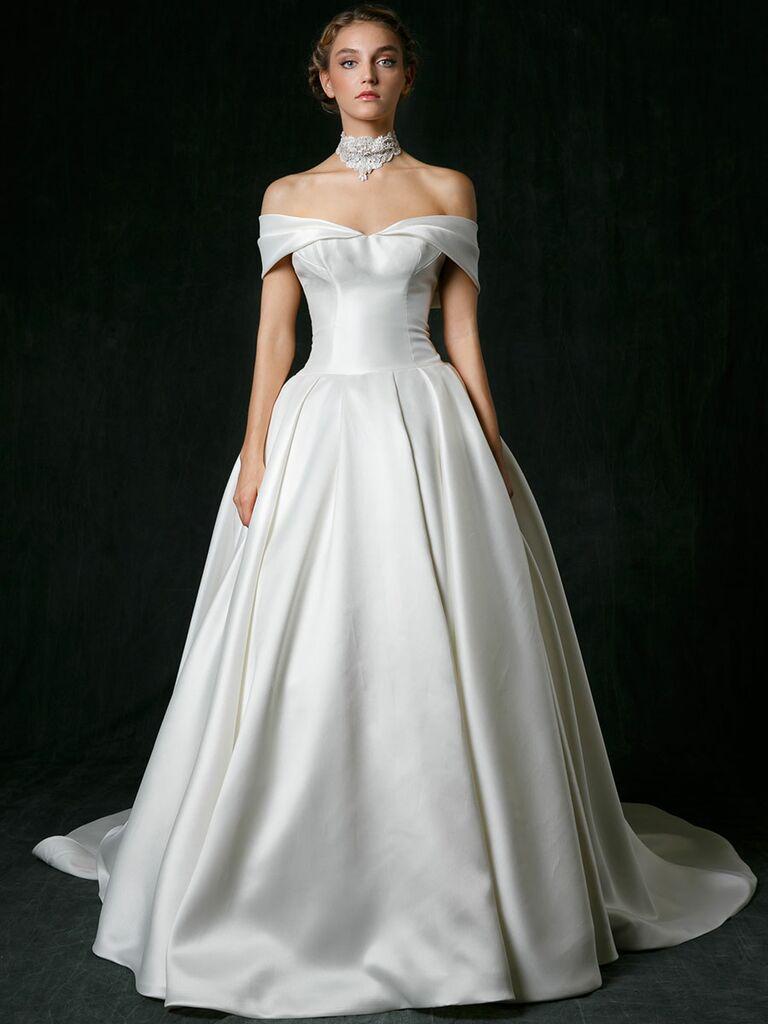 Sareh Nouri Off The Shoulder Ballgown Wedding Dress