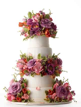 Sylvia Weinstock sugar flower wedding cake