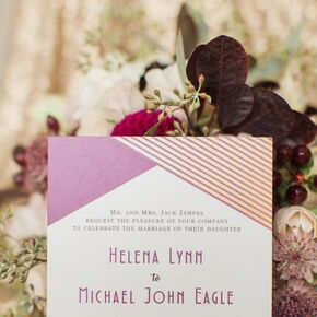 Purple invitations wedding