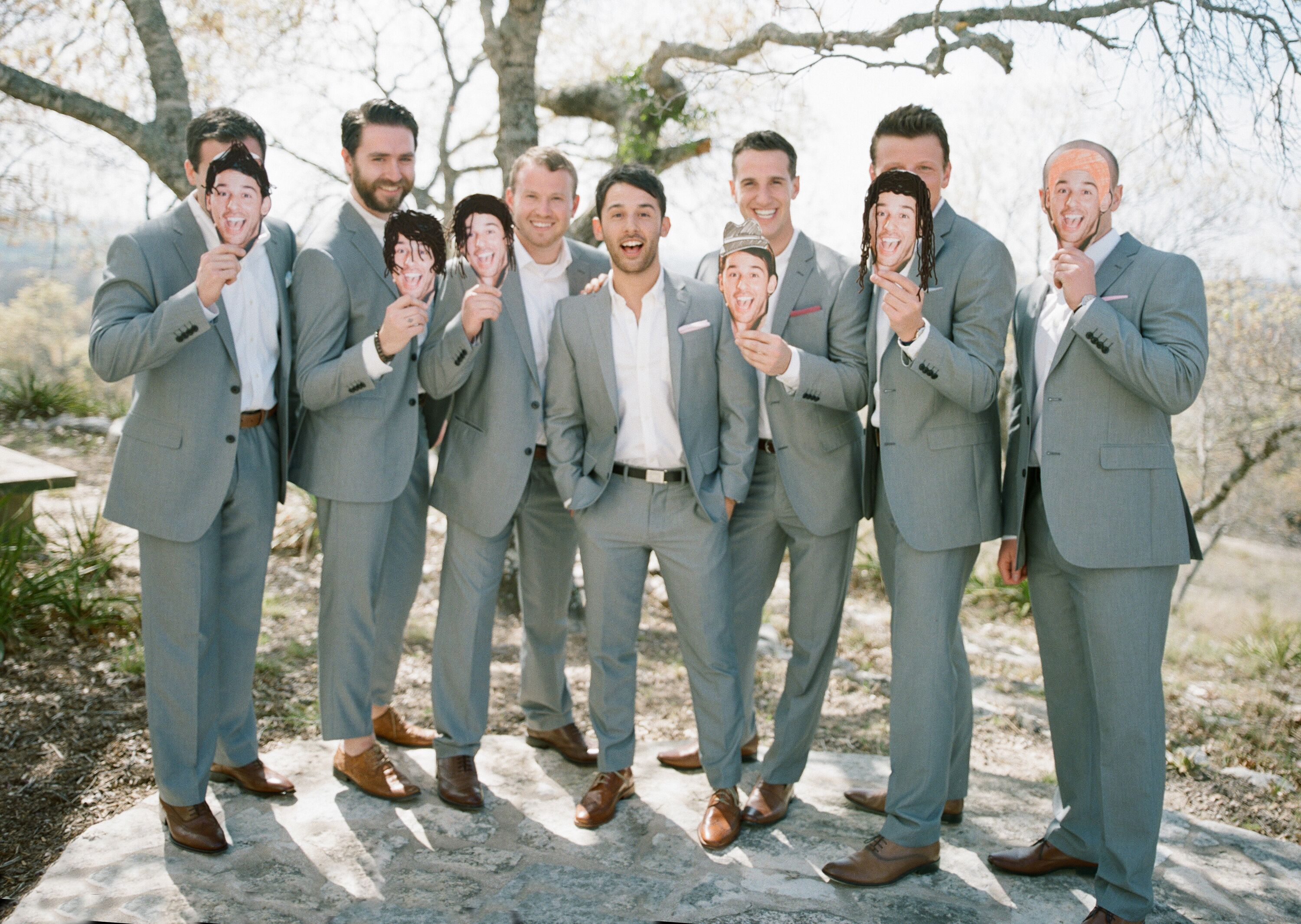 Casual Gray Suit Groomsmen