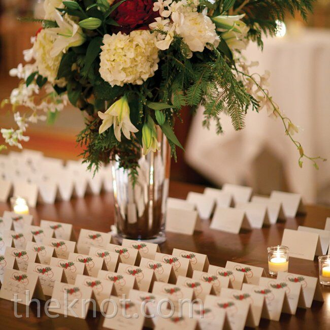Winter Escort Cards