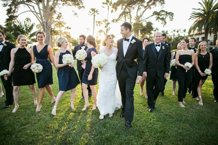 Navy and Black Wedding Party Style