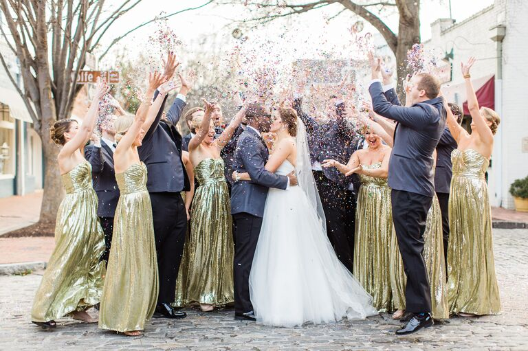 New Year's Eve Wedding at Cobblestone Hall in Raleigh, North Carolina