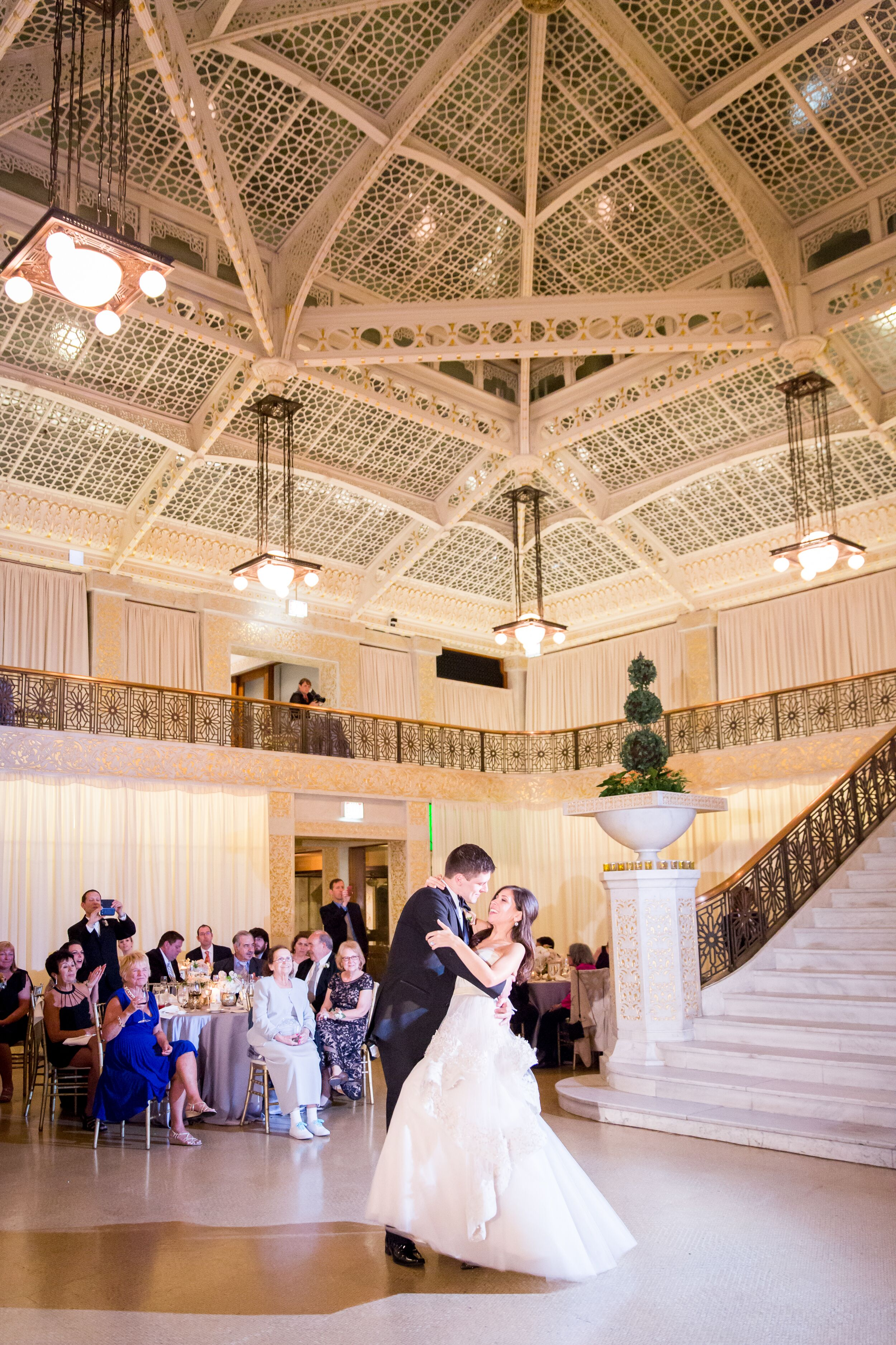 Two Level Vaulted Ceiling Wedding Reception Ballroom