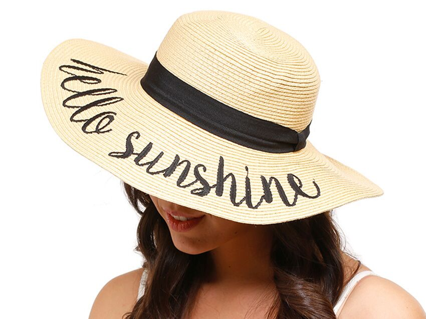 63fff036c0f4f1 Floppy Sun Hats With Writing for Honeymoon, Bachelorette Party