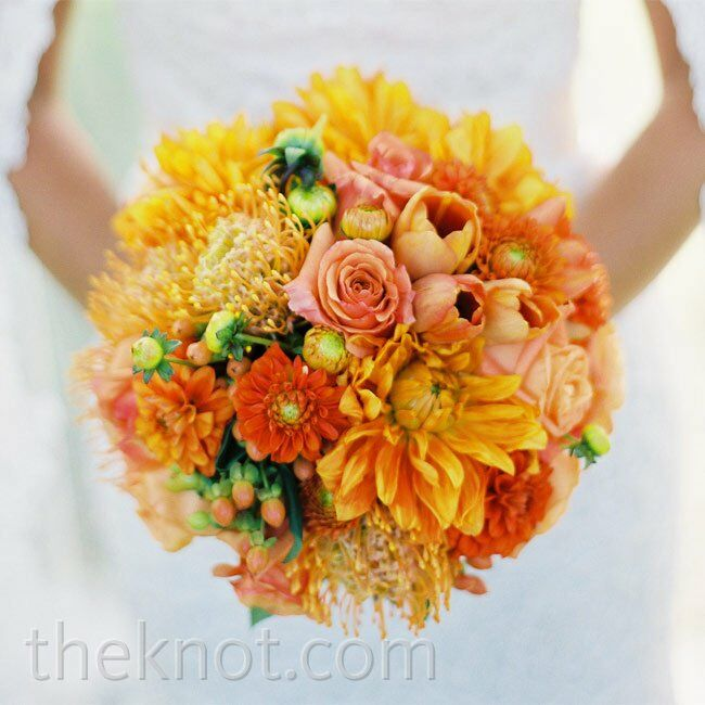 wedding ideas for the groom orange bridal bouquets 27849