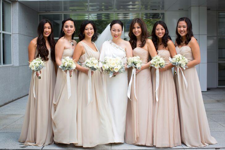 Formal Long Neutral Bridesmaids Dresses
