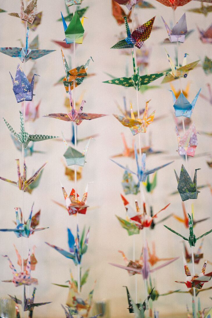 1,000 Hand-Folded Origami Cranes