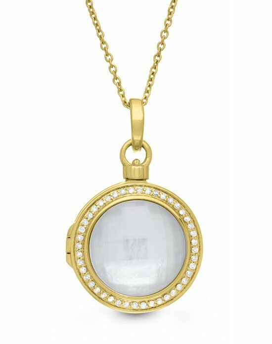 With You Lockets Michael Necklace (Gold) Wedding Accessory photo