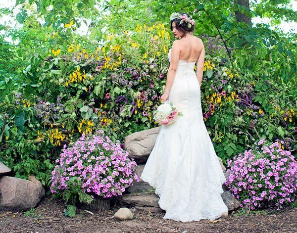 Outdoor Woods Wedding Ceremony