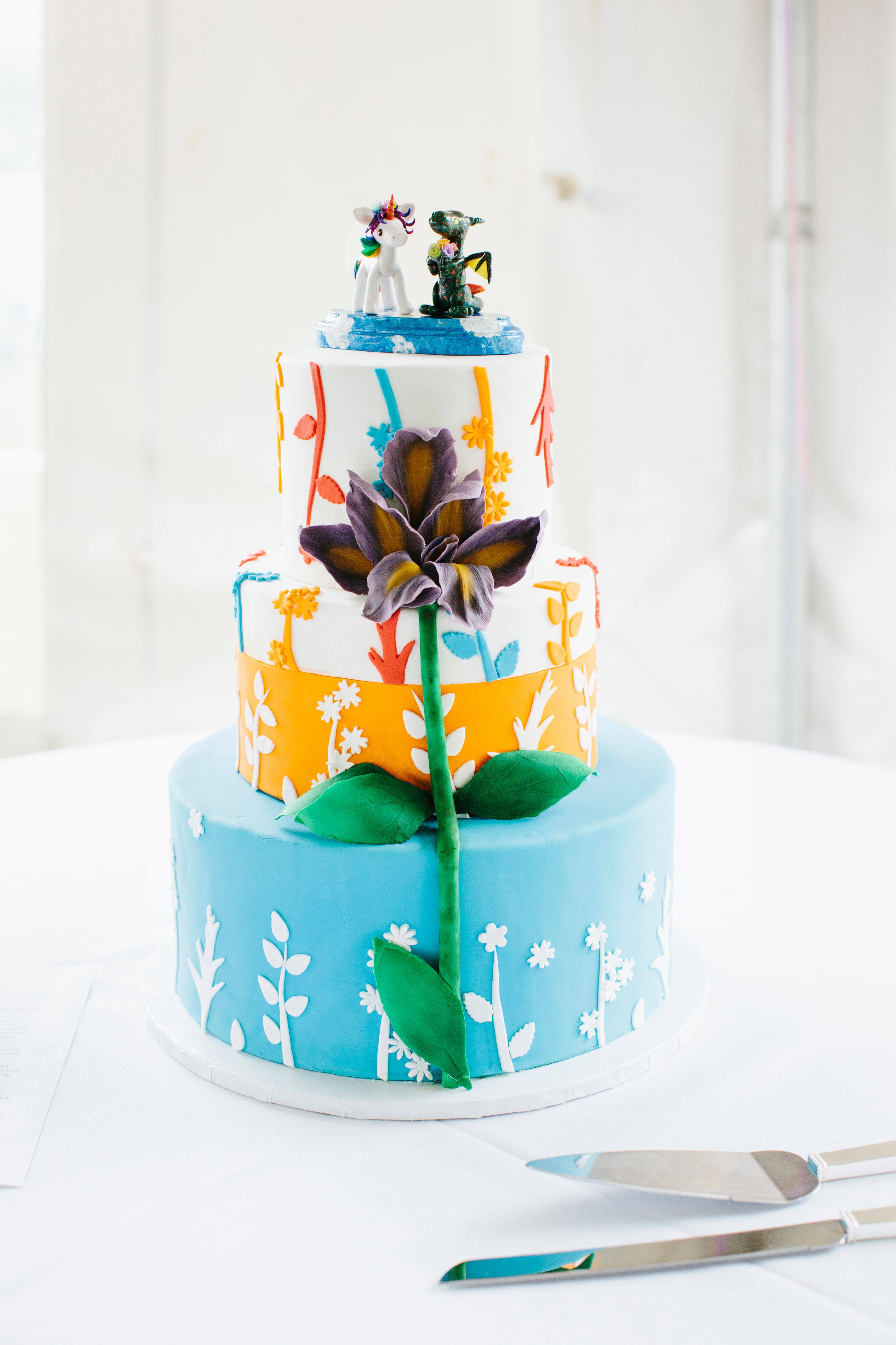 wedding cakes in rutland vermont colorful whimsical wedding cake 24769