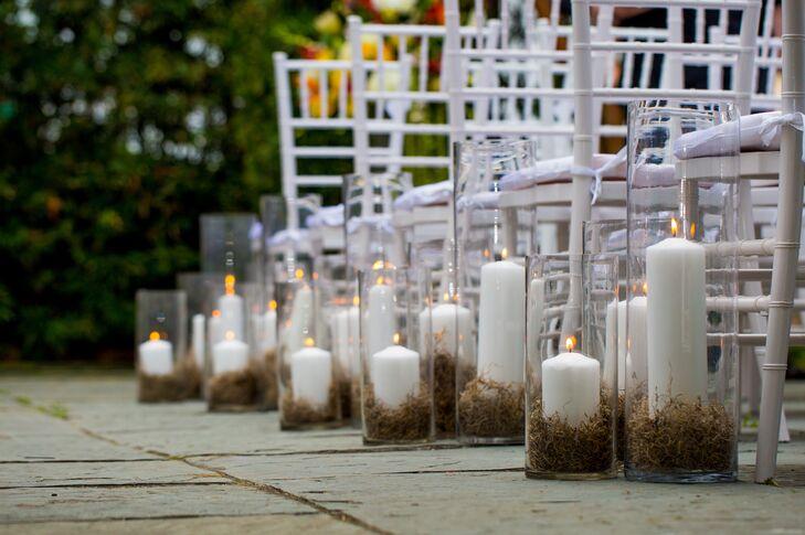 Candle Wedding Ceremony Aisle Decor