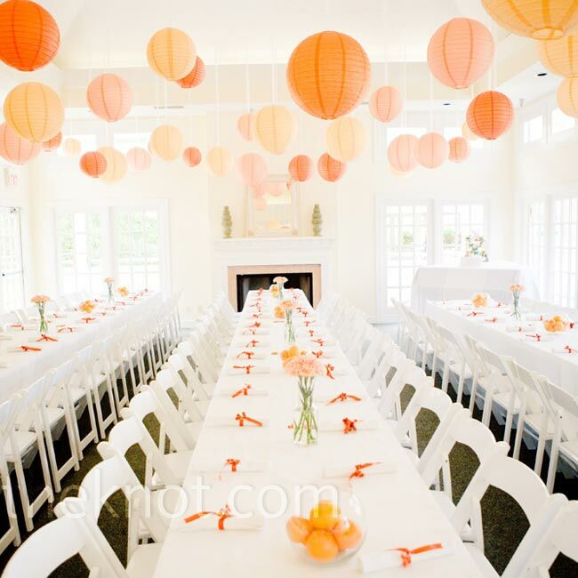orange wedding reception. Black Bedroom Furniture Sets. Home Design Ideas