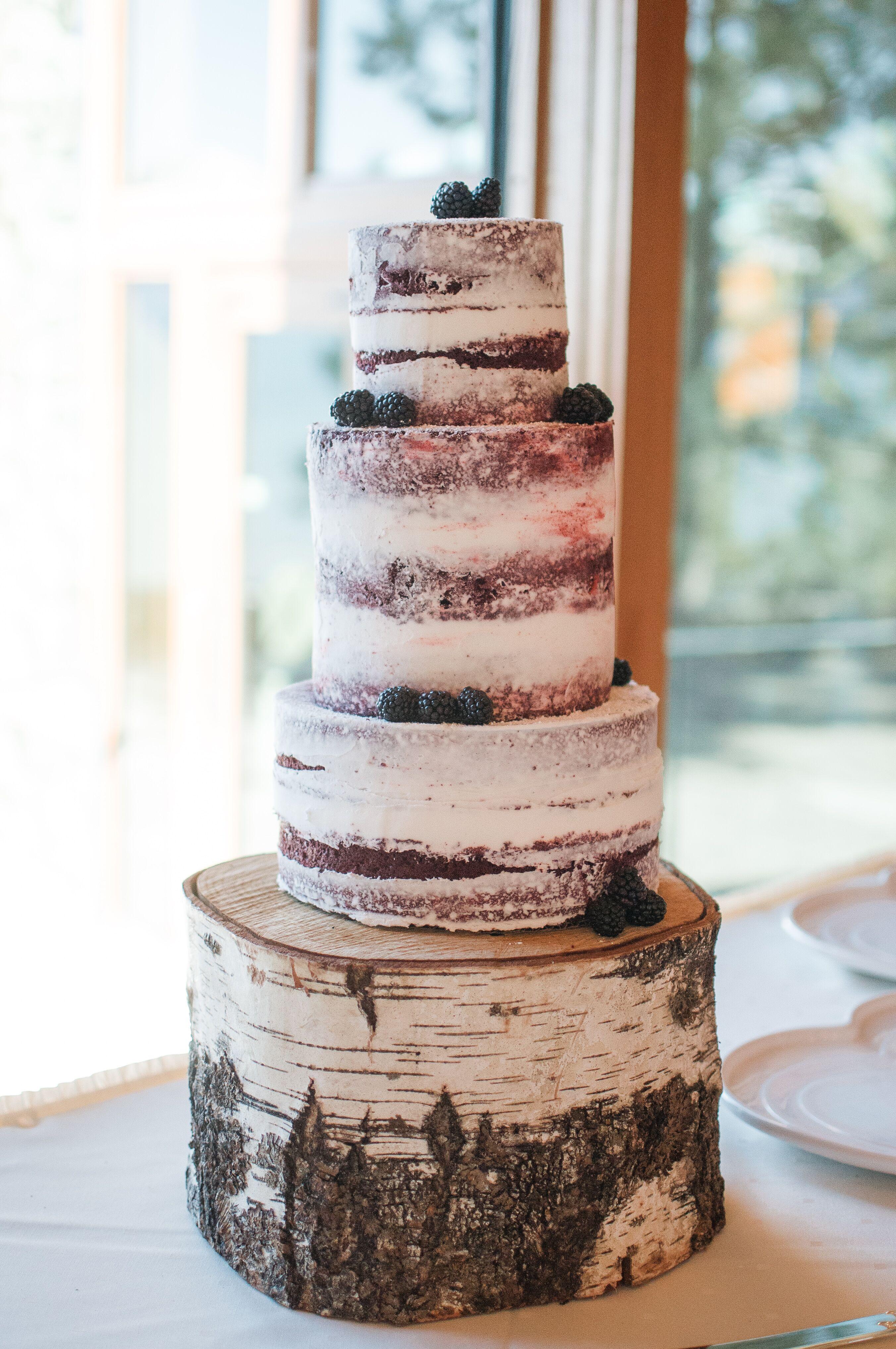Diy Red Velvet Naked Wedding Cake-3234