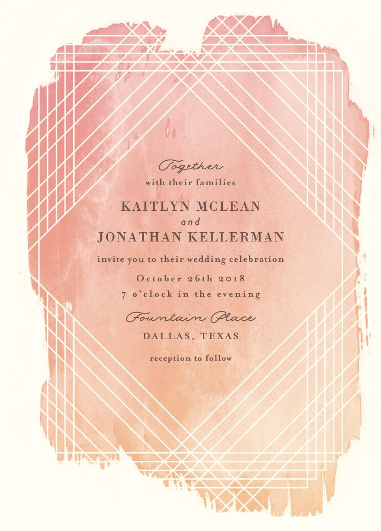 Masked Wash Wedding Invitations