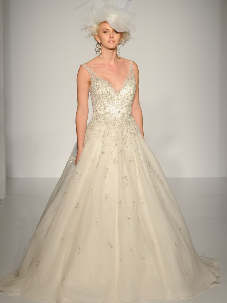 Sottero and midgley fall 2015 bridal fashion week photos sottero and midgley v neck ball gown wedding dress from fall 2015 ombrellifo Choice Image