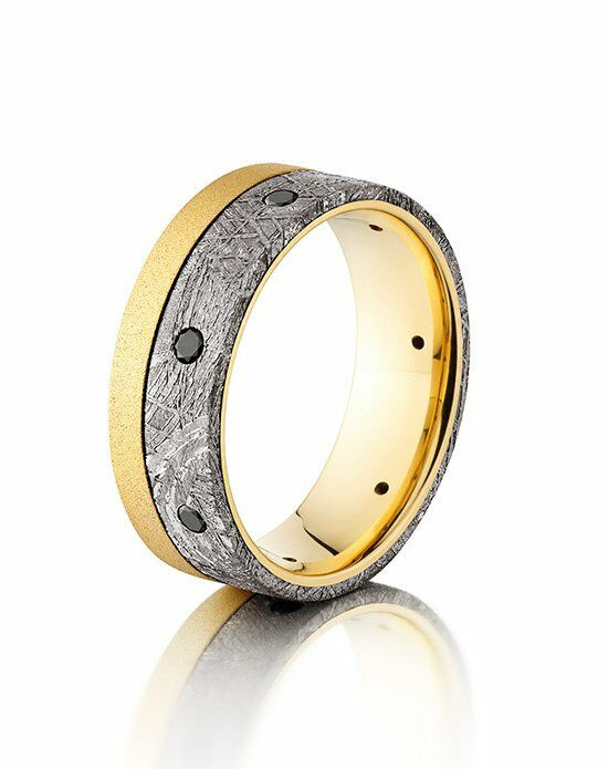Lashbrook 18KY8F15OCE/METEORITEBLKDIA7X.04 Wedding Ring photo