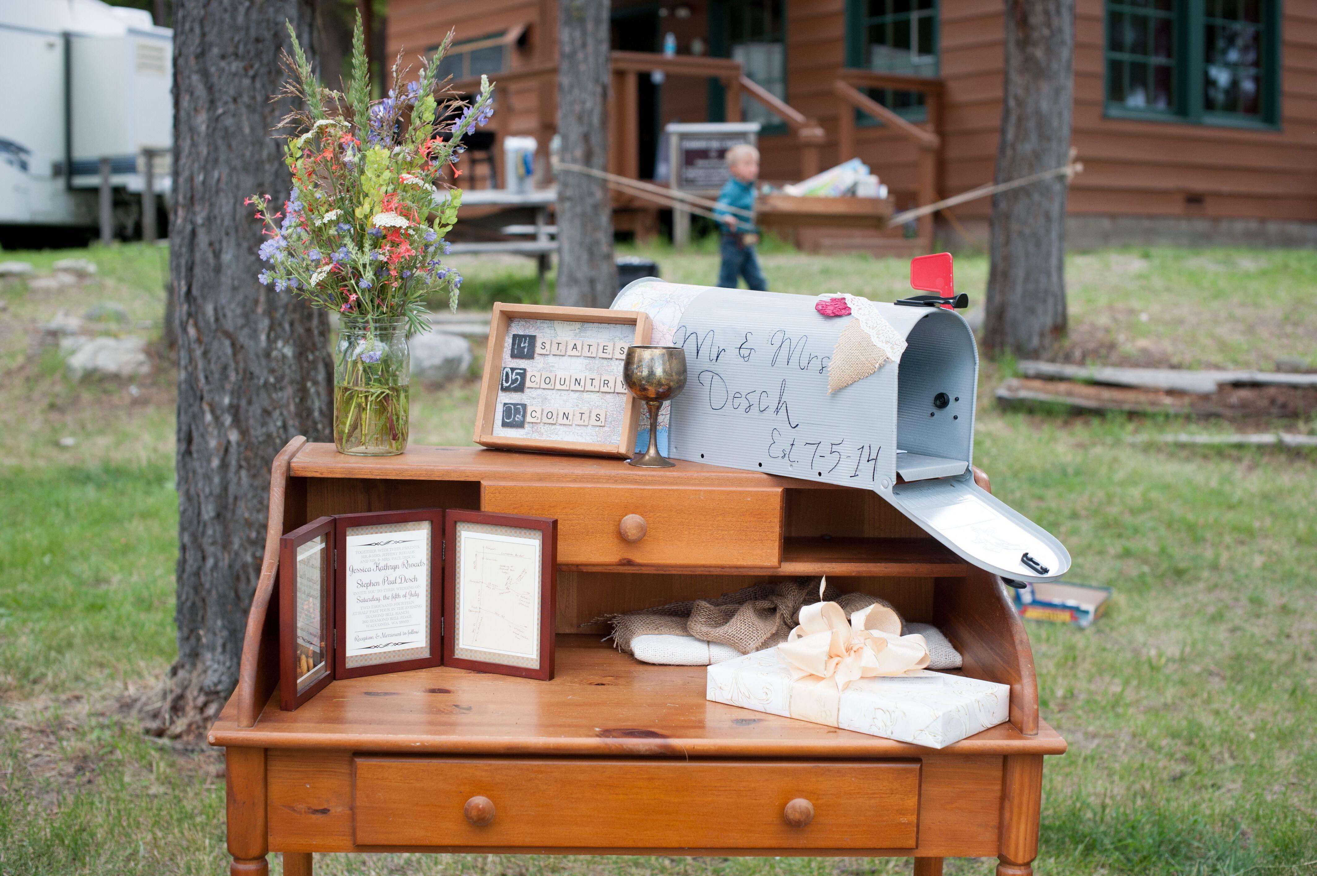Wedding Gift Mailbox : Vintage Mailbox Wedding Gift Table