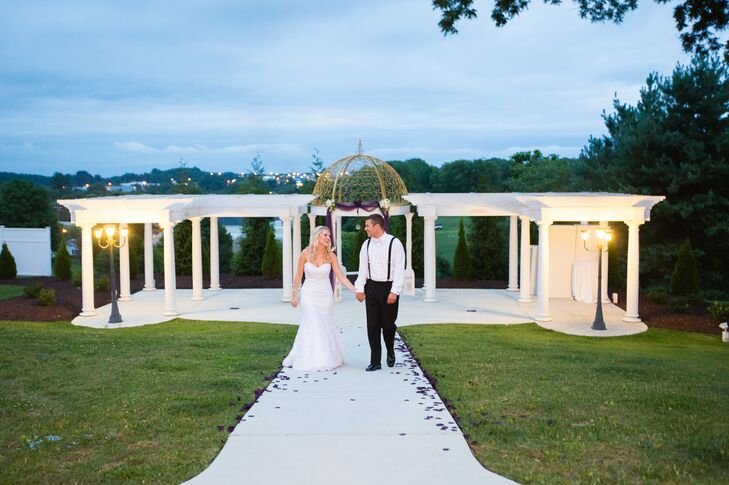 Bride and Groom at The Bedford Columns