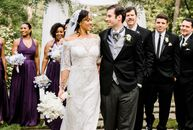 Camille Gipson (35 and a communications manager) and Bryan Bagwell (31 and a college athletics coach) gleaned wedding inspiration from the aesthetics