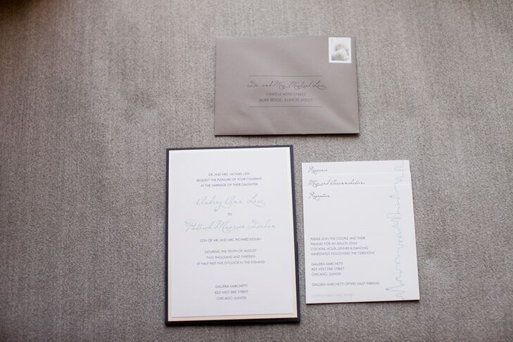 Simple Gray and White Wedding Invitations