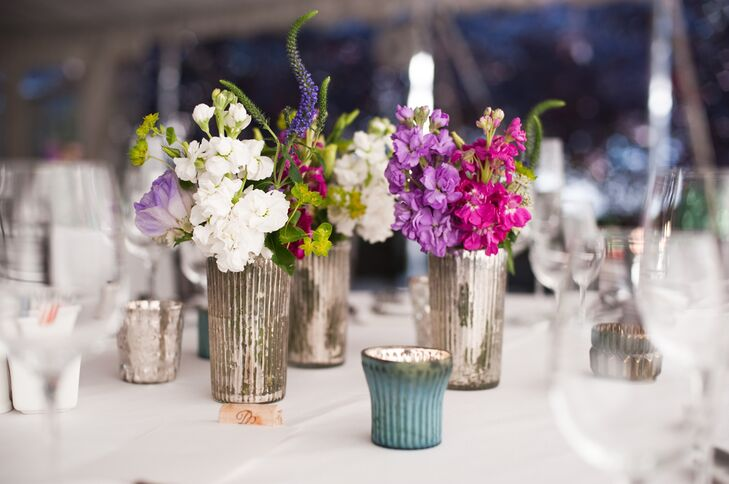 Snapdragon Centerpieces with Mercury Glass