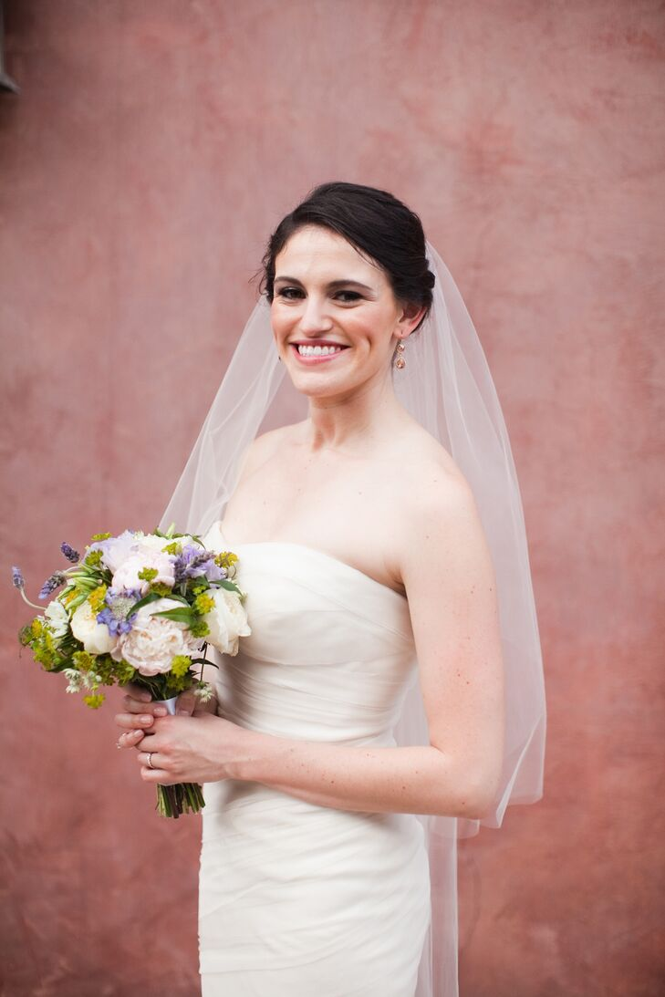 Updo with Mid-Length Veil