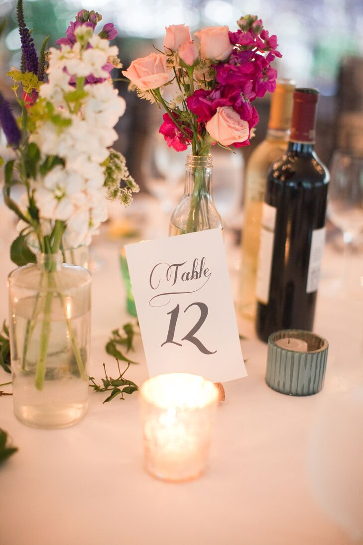 Table Number with Tea Light Candles
