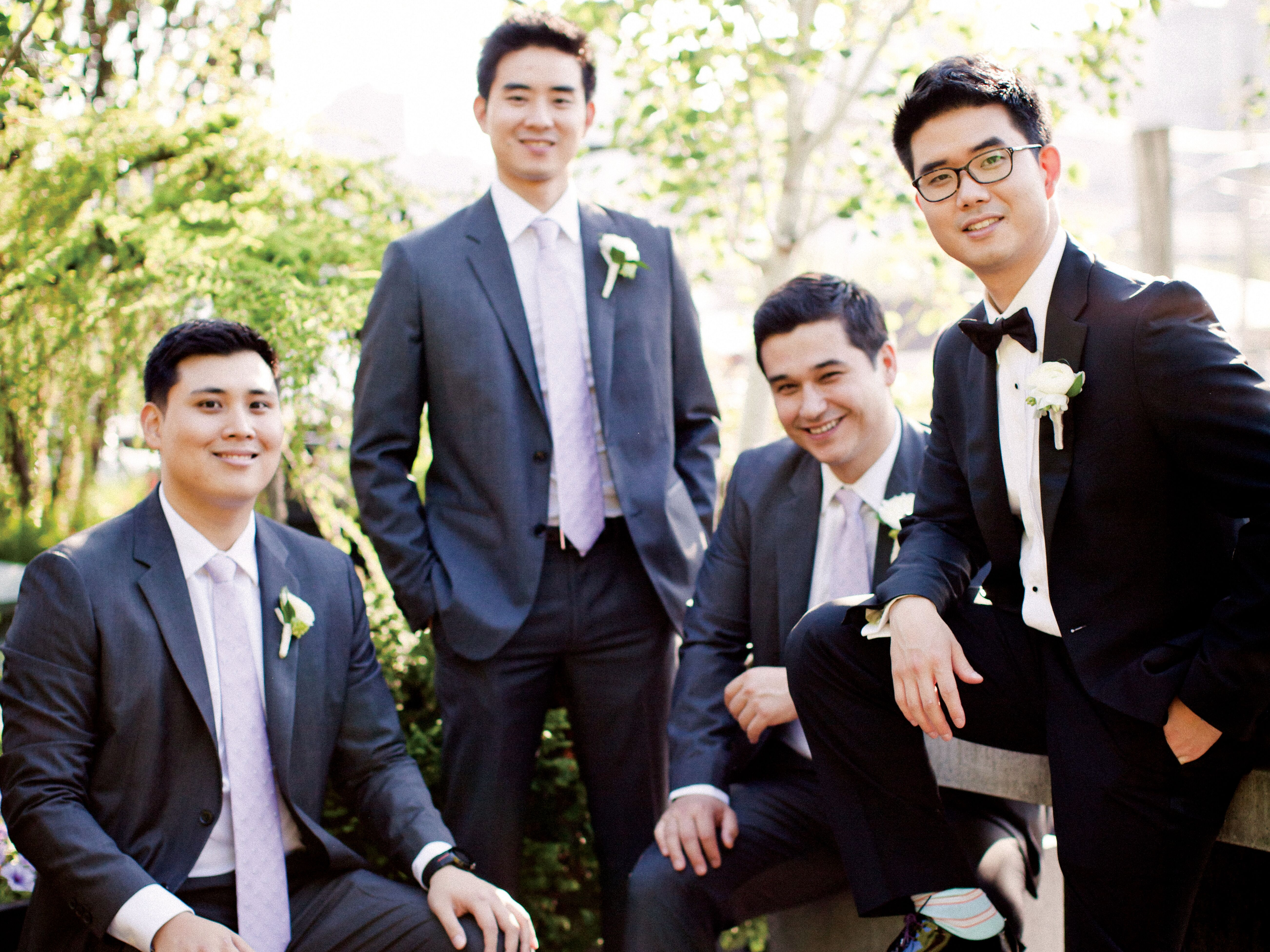 groom guys Groom + groomsmen the groom and groomsmen do have some duties to fulfill when it comes to planning the wedding get help finding vendors for a tuxedo rental or suit rental, and style tips for colorful socks and vintage suspenders.