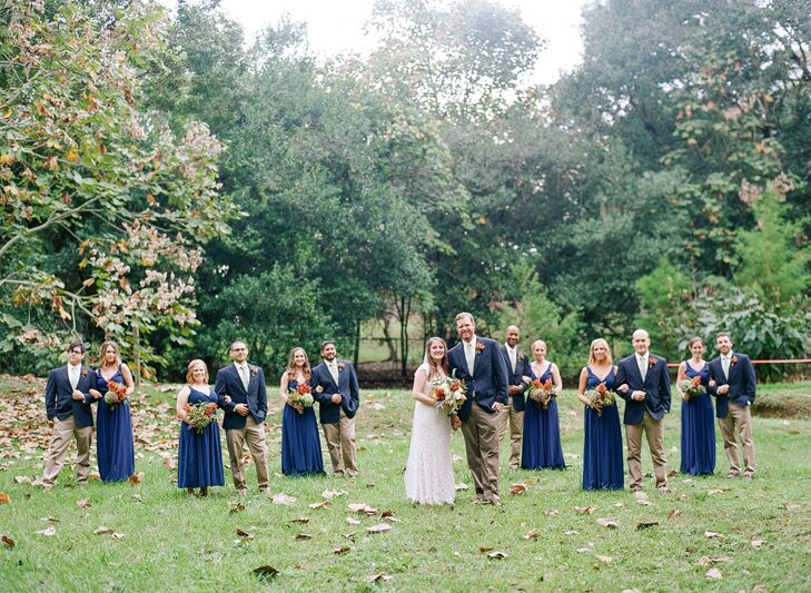 Navy Bridesmaid And Suit Jackets
