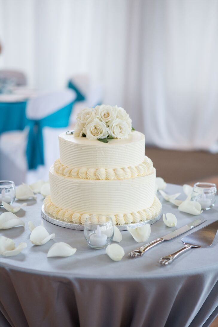 Two-Tier Round Wedding Cake with Buttercream Frosting